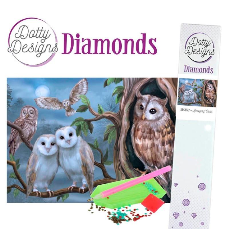 Broderie Diamant - Amazing Owls