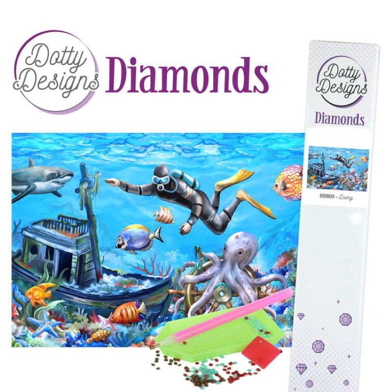 Broderie Diamant - Plongée sous marine
