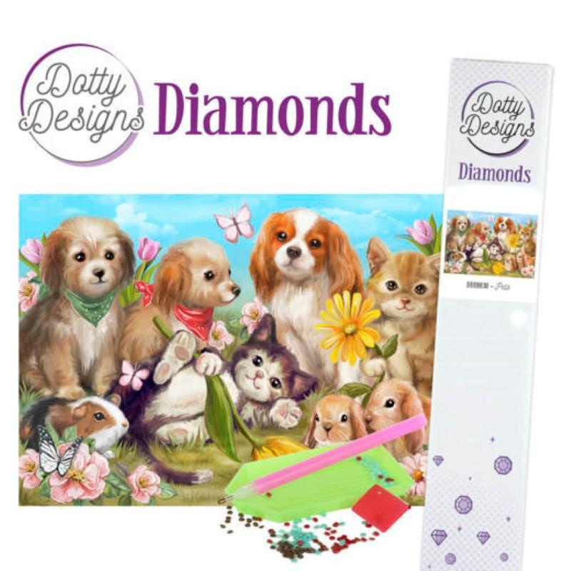 Broderie Diamant - Chats et chiens
