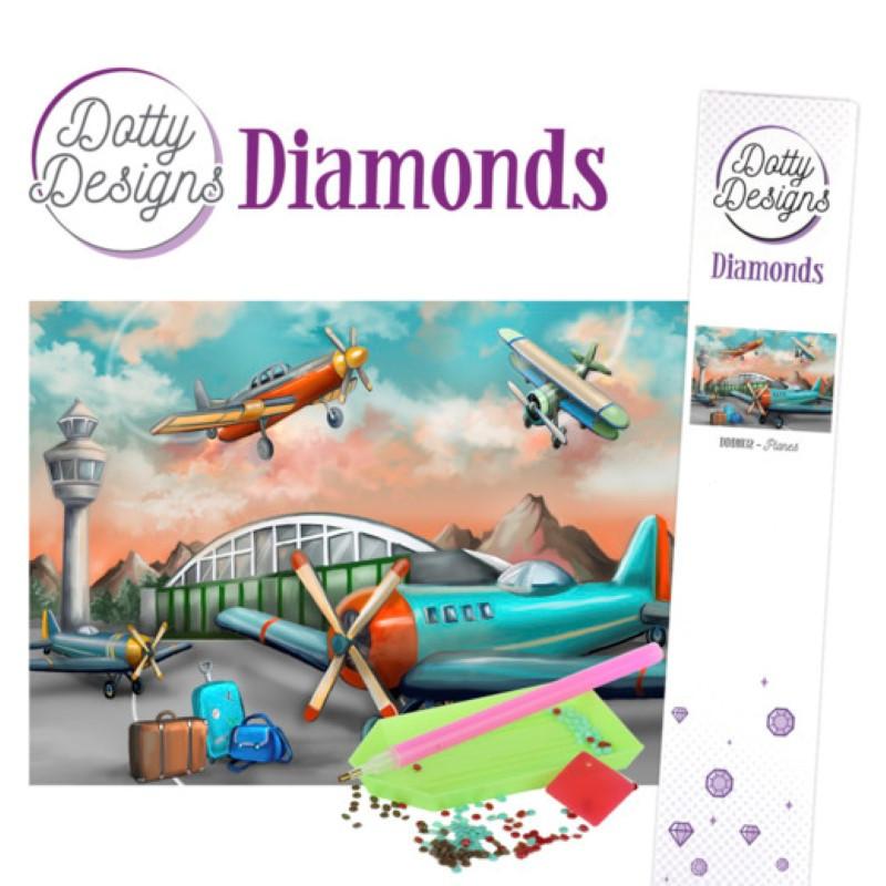 Broderie Diamant - Avions