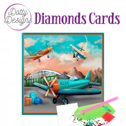 Dotty design Carte Broderie Diamant -  Planes