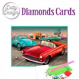 Dotty Designs Diamond Cards - Vintage Cars