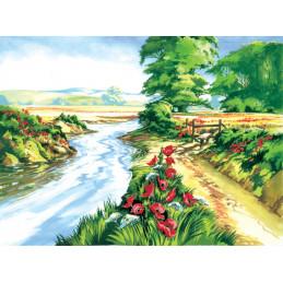 Peinture par Numéro - Champ de coquelicot - 40x30 cm