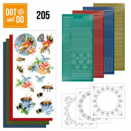 Dot and do 205 - kit Carte 3D  - Les abeilles