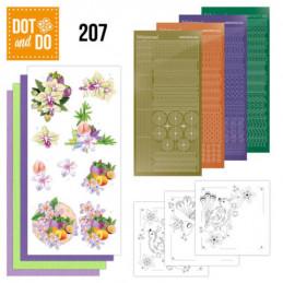 Dot and do 207 - kit Carte 3D  - Fleurs exotiques
