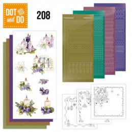 Dot and do 208 - kit Carte 3D  - Le meilleur Noël