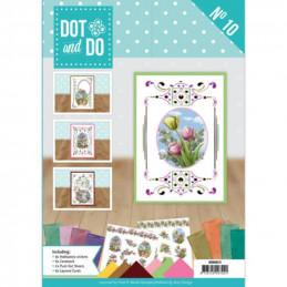 Dot and do Livre n°10 - Kit Carte 3D -  Fleurs