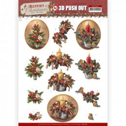 Carte 3D prédéc. - SB10565 - Histoire de Noël -  Bougies de Noël