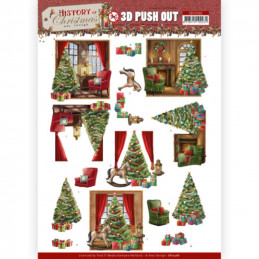 Carte 3D prédéc. - SB10566 - Histoire de Noël - Maison à Noël