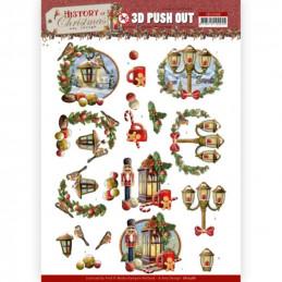 Carte 3D prédéc. - SB10568 - Histoire de Noël -  Lanternes de Noël