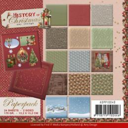 Bloc de papier - Amy Design - Histoire de Noël 15.2 x 15.2
