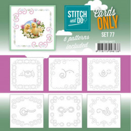 Cartes seules Stitch and do  - Set n°77