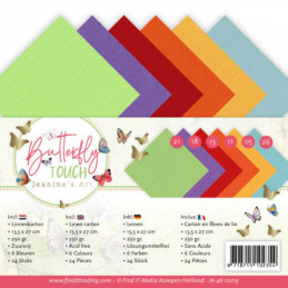 Set 24 cartes Jeanine's Art - Butterfly Touch 13.5x27cm