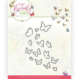 Die - Jeaninnes art - JAD10120 - Butterfly Touch - Bouquet de   papillons