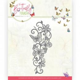 Die - Jeaninnes art - JAD10121 - Butterfly Touch - Bordure  de   papillons