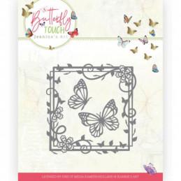 Die - Jeaninnes art - JAD10122 - Butterfly Touch - Carré de   papillons