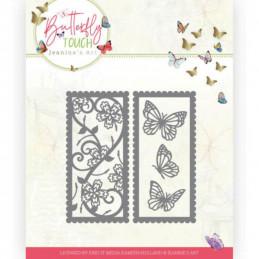 Die - Jeaninnes art - JAD10123 - Butterfly Touch - Double cadre  de   papillons