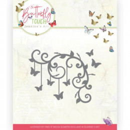 Die - Jeaninnes art - JAD10125 - Butterfly Touch - Coin papillons
