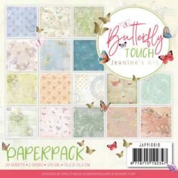 Bloc de papier - Jeanine art - Butterfly touch 15.2 x 15.2