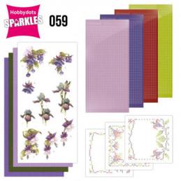 Kit Sparkles Set 59 - Fleurs pourpres