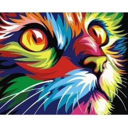 Peinture par numéro : Félin Pop Art 40X50cm