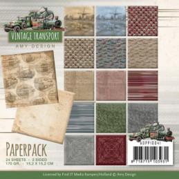 Bloc de papier - Amy Design - Vintage transport 15.2 x 15.2