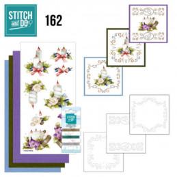 Stitch and do 162 - kit Carte 3D broderie - Bougies de Noël