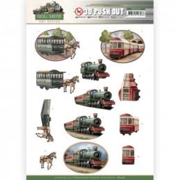 Carte 3D prédéc. - SB10576-  Vintage Transport - Train