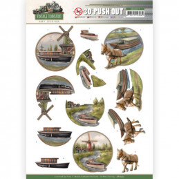 Carte 3D prédéc. - SB10577-  Vintage Transport - Boat