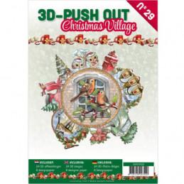 Carte 3D livre A4 prédécoupé - Village de Noël 24 images + papiers