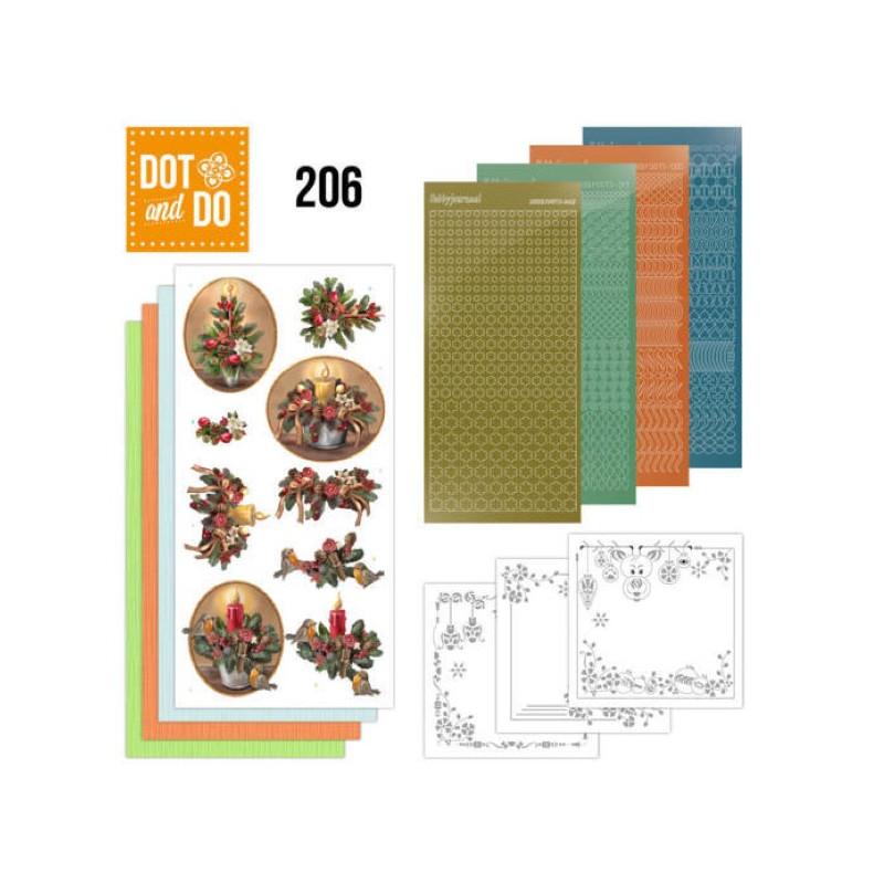 Dot and do 206 - kit Carte 3D  - Histoire de Noël