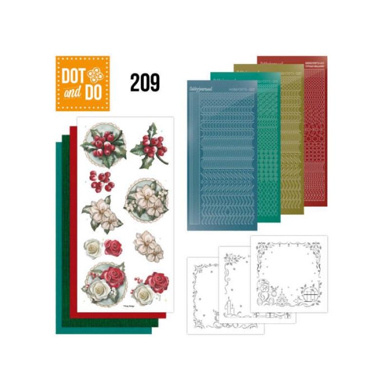 Dot and do 209 - kit Carte 3D  - Fleurs de Noël