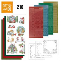Dot and do 210 - kit Carte 3D  - Maisons de Noël