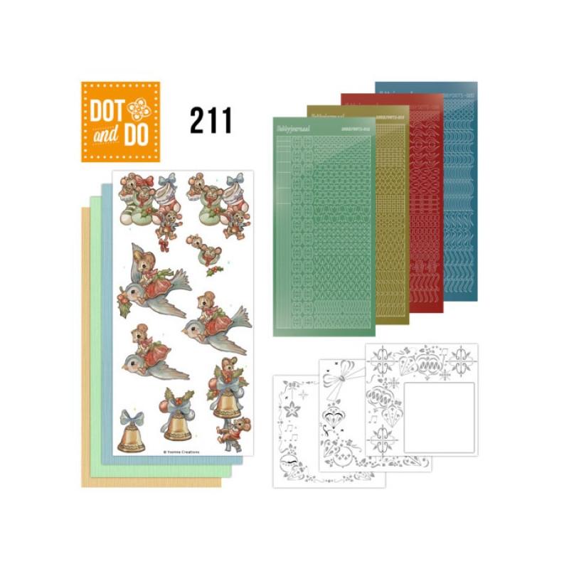 Dot and do 211 - kit Carte 3D  - Souris à Noël