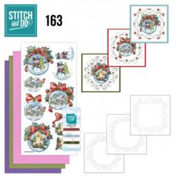 Stitch and do 163 - kit Carte 3D broderie - Hiver à  Noël