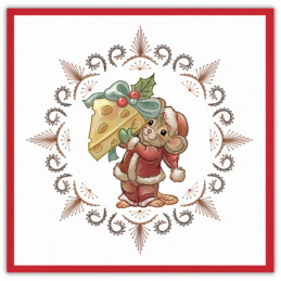 Stitch and do 164 - kit Carte 3D broderie - Souris à Noël