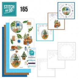 Stitch and do 165 - kit Carte 3D broderie - Décorations de Noël