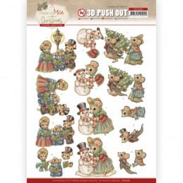 Carte 3D prédéc. - SB10582- Have a Mice Christmas- Chants de  Noel