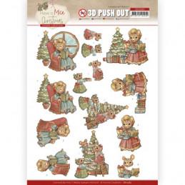 3D prédéc. - SB10583- Have a Mice Christmas- Décorations de Noel
