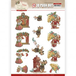 3D prédéc. - SB10584- Have a Mice Christmas-  Envoi de cartes de Noel