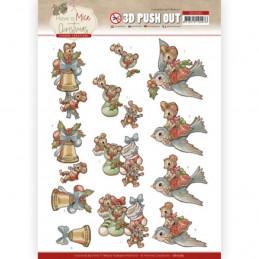 3D prédéc. - SB10585- Have a Mice Christmas-  Chaussettes de noel