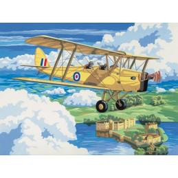 Peinture par Numéro - Avion vintage - 40x30 cm