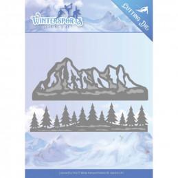 Die - jeaninnes art - JAD10029 - Montagne et sapins