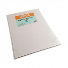 Papier parchemin 150g A4, 20 feuilles
