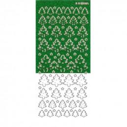 Stickers - 17580 - Pailletté - Sapin vert