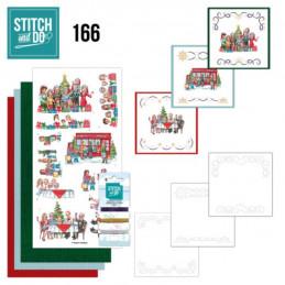 Stitch and do 166 - kit Carte 3D broderie - Shopping de Noël