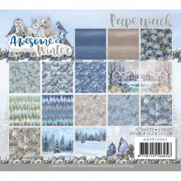 Bloc de papier - Amy Design - Awesome Winter 15.2 x 15.2