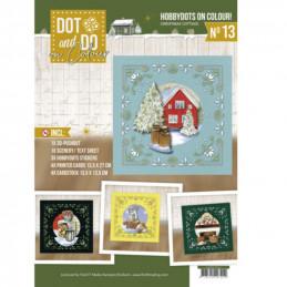 Dot and Do on Colour 13 - Kit Carte 3D - Cottage de Noël