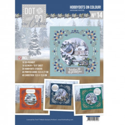 Dot and Do on Colour 14 - Kit Carte 3D - Incroyable hiver