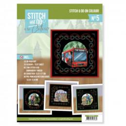 Stitch and Do on Colour 005 - Kit Carte 3D à broder de couleur Professions homme